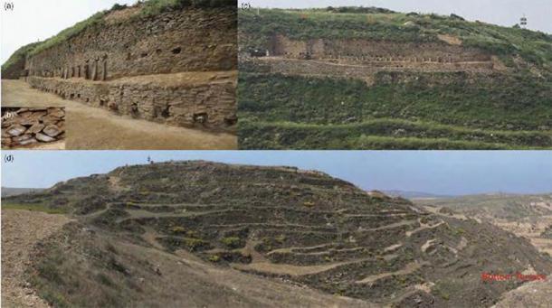 Shimao's step pyramid. (Zhouyong Sun and Jing Shao/ Antiquity)